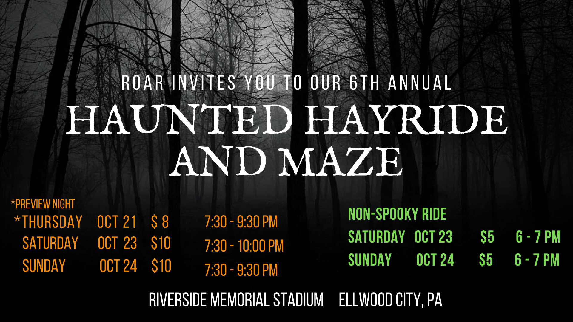 ROAR Hayride event cover (7)